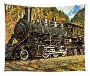 Cascade Mountain Train Tapestry