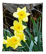 Cascade Of Daffodils Tapestry