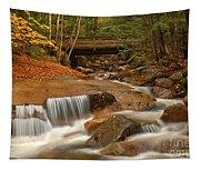 Cascades Below Flume Gorge Tapestry