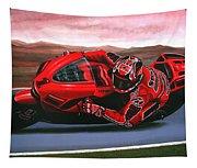 Casey Stoner On Ducati Tapestry