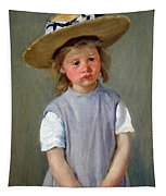 Cassatt's Child In A Straw Hat Tapestry