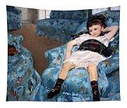 Cassatt's Little Girl In A Blue Armchair Tapestry