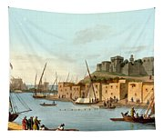 Castle In The Island Of Torosa Tapestry
