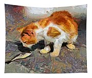 Cat  And Fish Tapestry