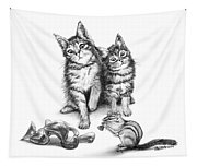 Cat Chips  Tapestry