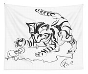 Cat- Cute Kitty  Tapestry