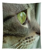 Cat Face Profile Tapestry