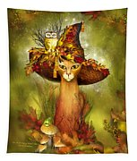 Cat In Fancy Witch Hat 3 Tapestry