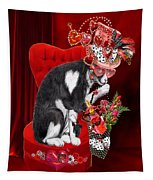 Cat In The Valentine Steam Punk Hat Tapestry
