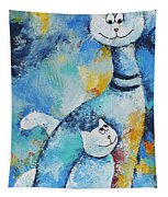 Cat Mommy Tapestry