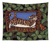 Cat Napping Tapestry