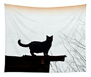 Cat On A Tin Roof 2 Tapestry