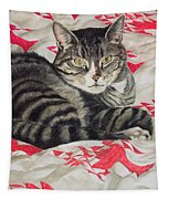 Cat On Quilt  Tapestry
