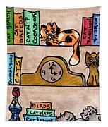 Cat Shelves Tapestry