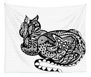 Cat With Design Tapestry