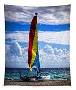 Catamaran At The Beach Tapestry