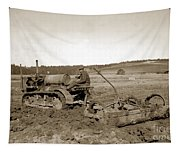 Caterpillar Sixty Working A Field  Circa 1930 Tapestry