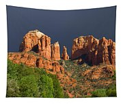 Cathedral Rock Before The Storm Tapestry