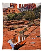 Cathedral Rock In Winter Tapestry