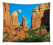 Cathedral Rock Moon Tapestry