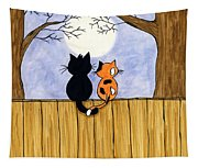 Cats Night Out Tapestry