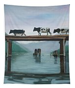 Cattle Crossing Tapestry