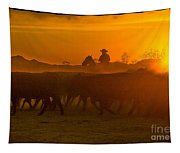 Cattle Drive 20 Tapestry