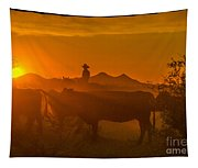 Cattle Drive 21 Tapestry