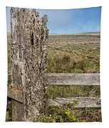 Cattle Fence On The Stornetta Ranch Tapestry
