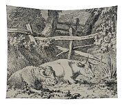 Cattle Resting Tapestry
