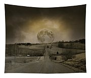 Caution Road Tapestry