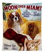Cavalier King Charles Spaniel Art - Moon Over Miami Movie Poster Tapestry