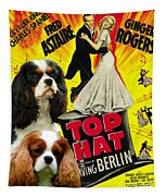 Cavalier King Charles Spaniel Art - Top Hat Movie Poster Tapestry