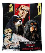 Cavalier King Charles Spaniel Art - Vertigo Movie Poster Tapestry
