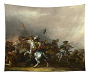 Cavalry Attacked By Infantry Tapestry