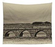 Ceasarea Aqueduct 1 Antiqued Tapestry