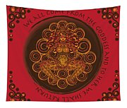 Celtic Pagan Fertility Goddess In Red Tapestry