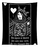 Celtic Queen Of Hearts Part I In Black And White Tapestry
