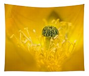 Center Of A Yellow Cactus Flower Tapestry