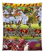 Central Michigan Football Collage Tapestry