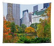 Central Park And Fifth Autumn View Tapestry