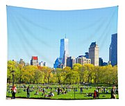 Central Park Panoramic View Tapestry