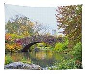 Central Park Gapstow Bridge Autumn II Tapestry