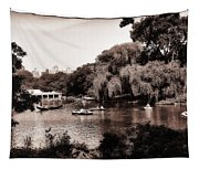 Central Park Rowing - New York City Tapestry