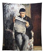 Cezanne's The Artist's Father Reading Le Evenement Tapestry