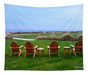 Chairs At The Eighteenth Hole Tapestry