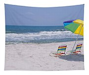 Chairs On The Beach, Gulf Of Mexico Tapestry