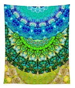Chakra Mandala Healing Art By Sharon Cummings Tapestry