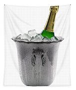 Champagne Bottle On Ice Tapestry