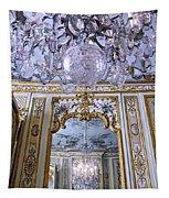 Chandelier Inside Chateau De Chantilly Tapestry